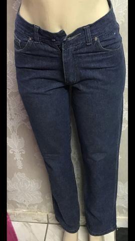 Calça jeans retrô, Hemuche , única, tamanho 38, original - Foto 4