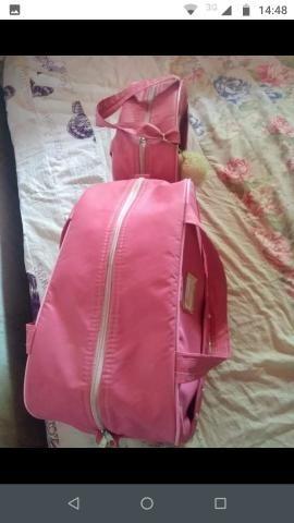 Bolsas maternidade apenas 1 vez usada ( cor rosa )