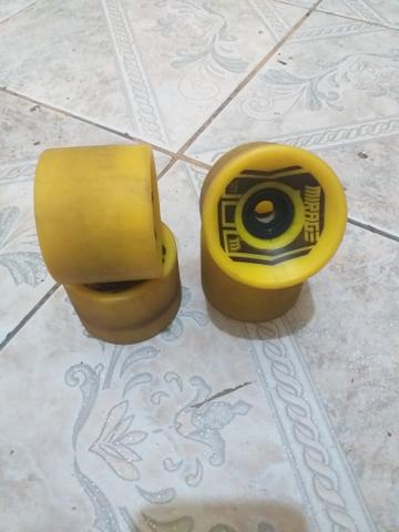 (R$:50) longboard rodas mirage - Foto 3