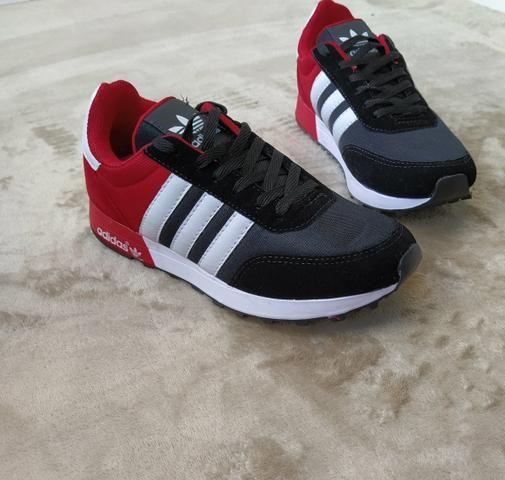 Tênis Adidas Neo Preto vermelho (SALDÃO) - Foto 5