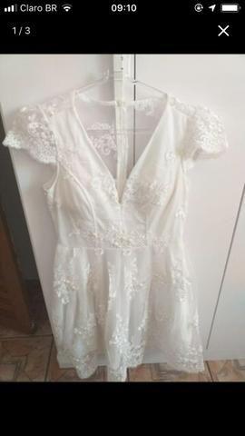 Vestido branco curto - Foto 2