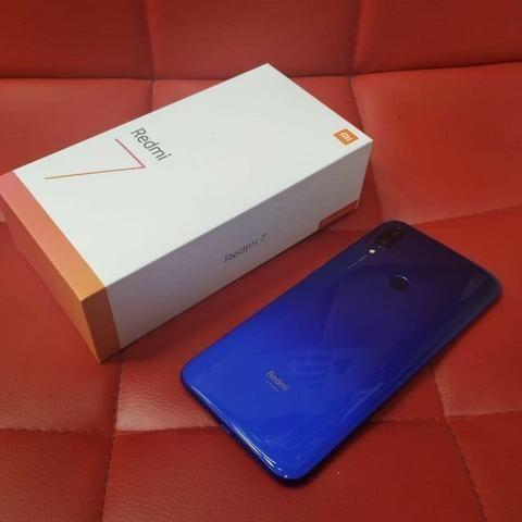 Xiaomi Redmi 7 64gb 3gb Rom Global/Novo Com Garantia 6 Meses/Azul