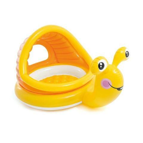 Piscina Infantil Caracol Preguiçoso 53L Amarelo Intex - Foto 2