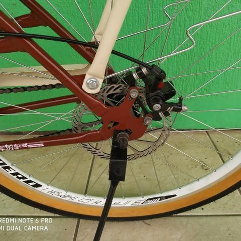 Bicicleta modelo retro nova - Foto 3