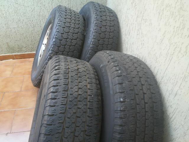 Rodas f250 com pneus goodyear - Foto 7