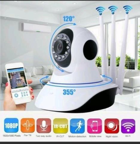 Câmera ip robô 3 antenas via Wi-Fi App próprio e visão noturna yoosee
