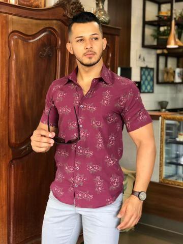 Camisas Slim masculina - Foto 6