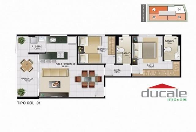 Davi Amarante Apartamento 2 quartos suíte em Bento Ferreira - Foto 12