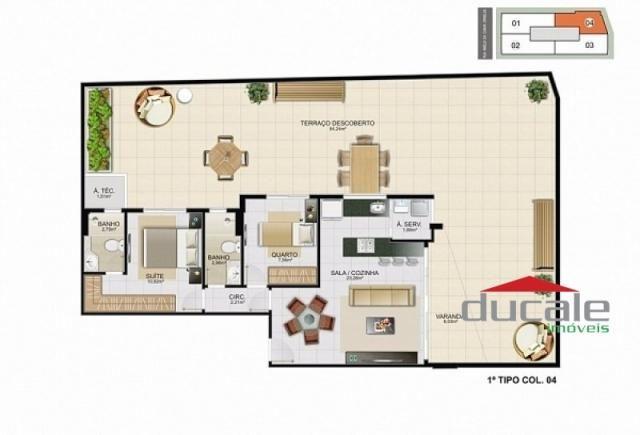 Davi Amarante Apartamento 2 quartos suíte em Bento Ferreira - Foto 13