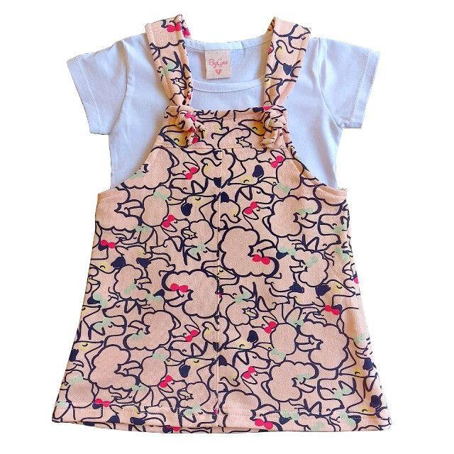 Conjunto Infantil Menina Blogueirinha Jardineiras para bebê Salopete - Foto 5