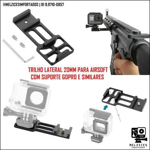 Trilho tatico Lateral 20mm para GoPro e Similares