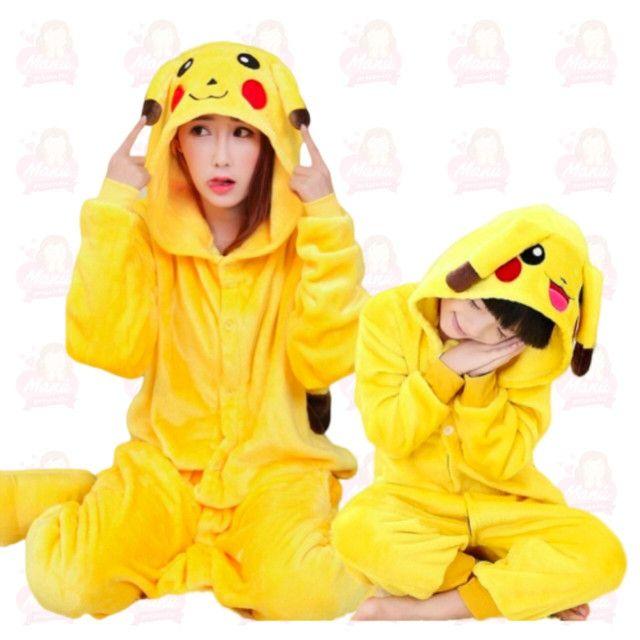 Pijamas pelúcia diversos - adulto e infantil