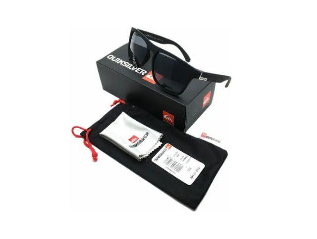 Óculos De Sol Quiksilver Com Proteção Uv400 + Bag + Flanela