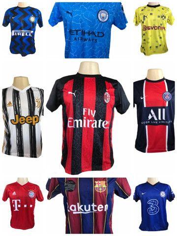 Kit 09 Camisas De Times De Futebol (bordada) Europeu! - Foto 2