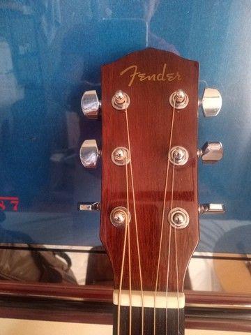 Violão Fender cc60 sce classic eletroacústico, afinador e capa de couro, novo - Foto 3