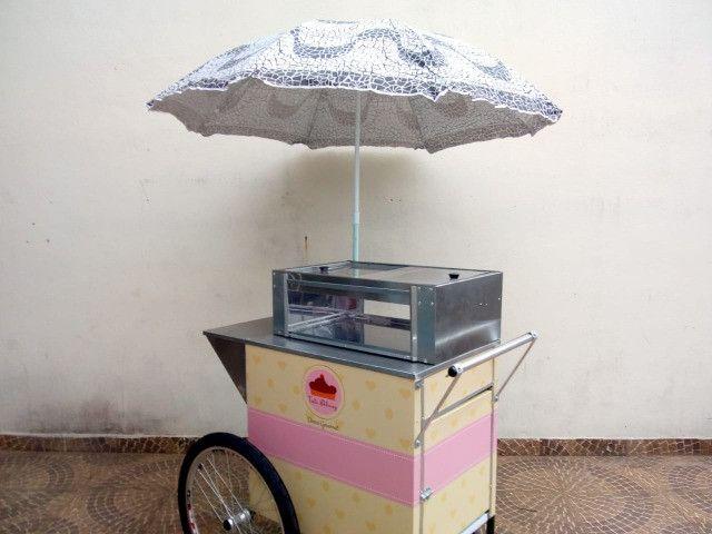 Carrinho p/ doces, bolos e salgados  negócios delivery na garagem - Foto 3