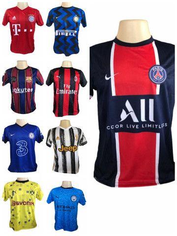 Kit 09 Camisas De Times De Futebol (bordada) Europeu! - Foto 5