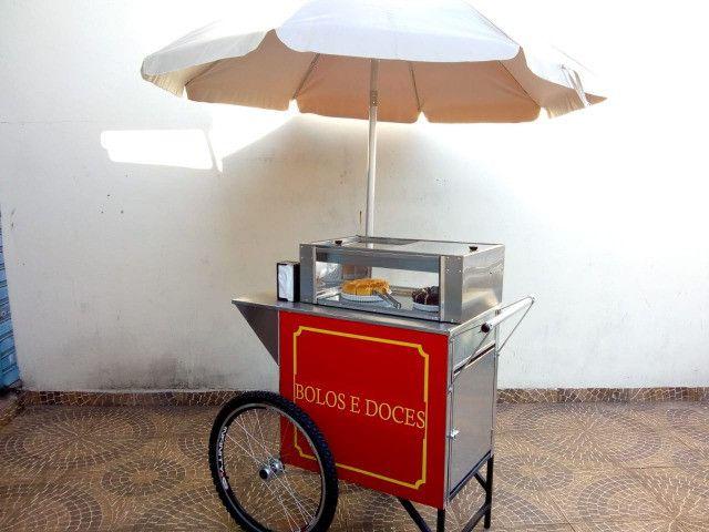 Carrinho p/ doces, bolos e salgados  negócios delivery na garagem - Foto 2