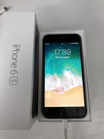 d894eba13 Apple iPhone 6S 64GB Cinza Espacial com Capa Apple e carregador ...