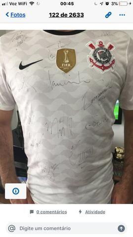Camisa Oficial de 2012 do Corinthians Autografada