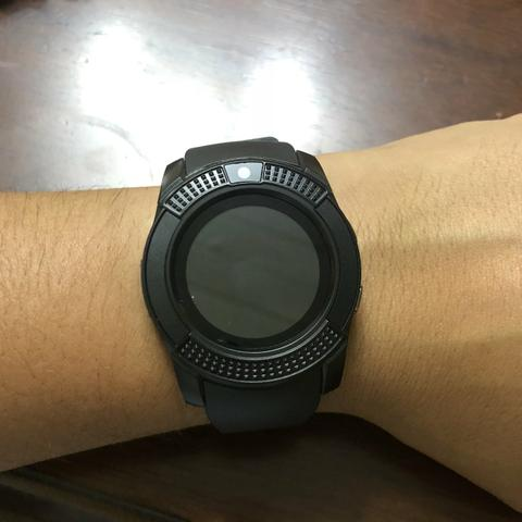 (oferta)smartwatch v8/r$69,99/faz e recebe ligações/aceita chip/tora foto/mp3 - Foto 3