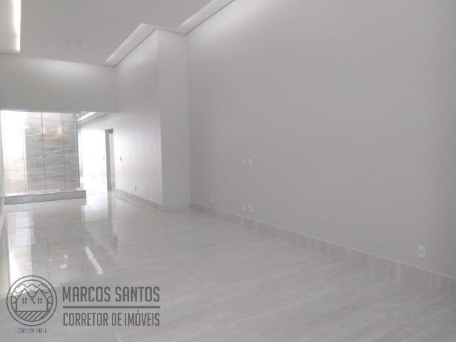 Linda casa nova moderna de alto padrão em rua 06 Vicente Pires - Foto 5