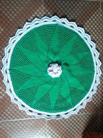 Tapete crochê verde