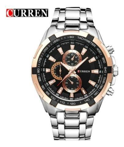 Relógio Masculino Silver Curren® - Original