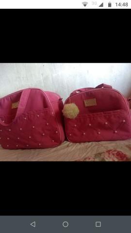 Bolsas maternidade apenas 1 vez usada ( cor rosa ) - Foto 3
