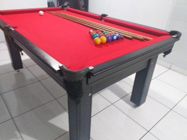 Mesa Tentação de 4 Pés Cor Tabaco Tecido Vermelho Mod. GJSD5700