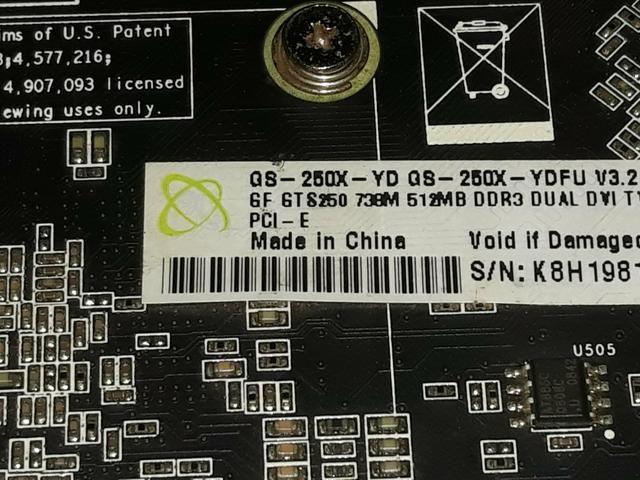 Placa de video - XFX 512mb DDR3