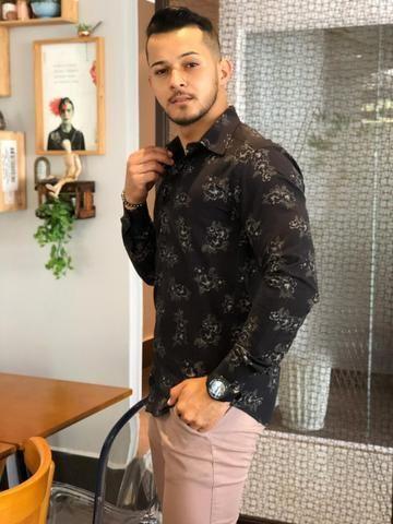 Camisas Slim masculina - Foto 4