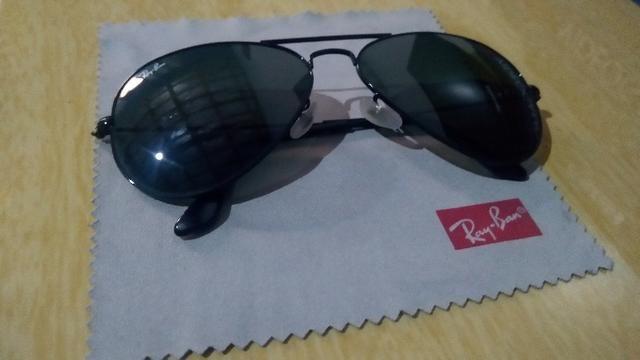 Óculos de sol Ray Ban Aviador Preto Masculino Original - Em ótimo estado 45b527445b
