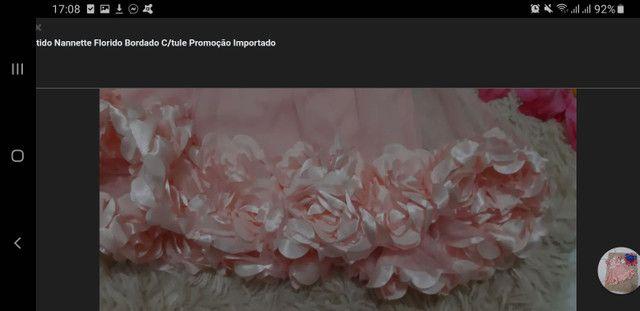 Vestido Florido Bordado Nannette Importado - Foto 3