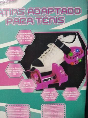 Kit Proteção Infantil + Patins Adaptado para tênis - Foto 5