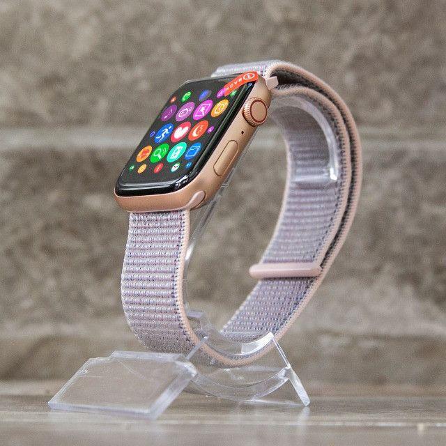 Relógio Smartwatch Iwo 12 Pro Original Gps Cor Rosa Pulseira Brinde - Foto 5