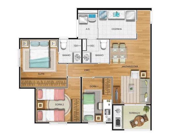 Apartamento 3 quartos 68m Bairro Alto - Novita - Foto 20
