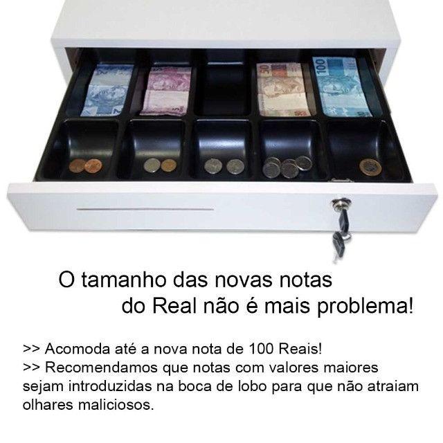 Nova caixa gaveta com separador de notas moedas chave e boca de lobo - Foto 4