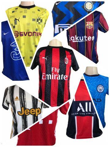 Kit 09 Camisas De Times De Futebol (bordada) Europeu! - Foto 6