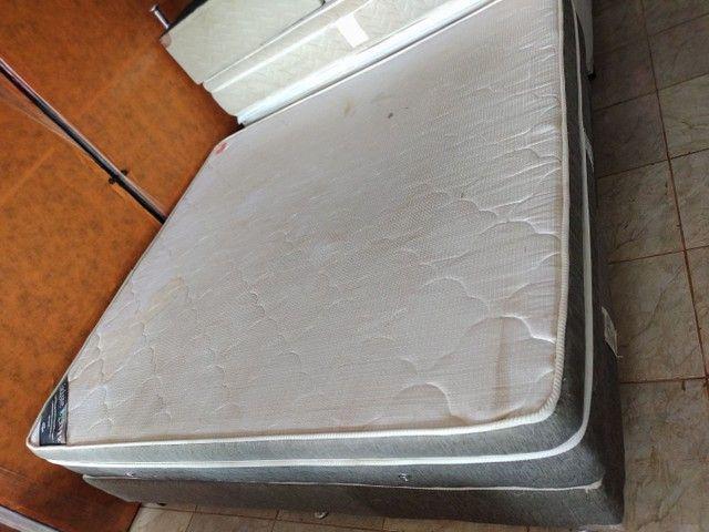Cama King Molas ensacadas Usada  - Foto 4