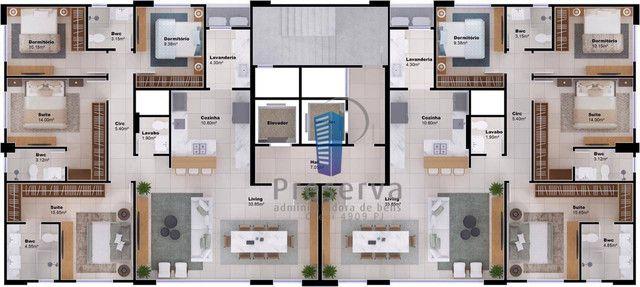 ENTREGA PARA 2024. Apartamento diferenciado, com amplo terraço e único no andar, no Centro - Foto 5