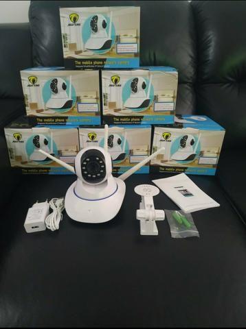 Câmeras para segurança via Wi-Fi, visão noturna e gira 360° - Foto 4