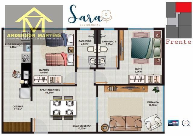 Apartamento à venda com 2 dormitórios em São geraldo, Cariacica cod:14888 - Foto 9