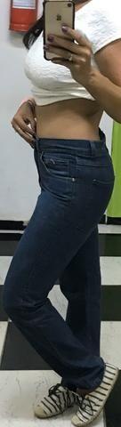 Calça jeans retrô, Hemuche , única, tamanho 38, original - Foto 2