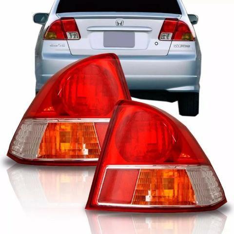 Par Lanterna Traseira Honda Civic 2004 2005 Canto