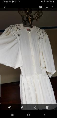 Vestido em crepe com bordado farm. usado pouquíssimas vezes - Foto 2