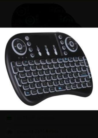 Mini teclado com led pra TV box pra PC notebook - Foto 5