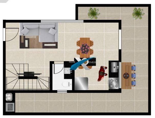 Cobertura top house a venda 2 quartos - prado