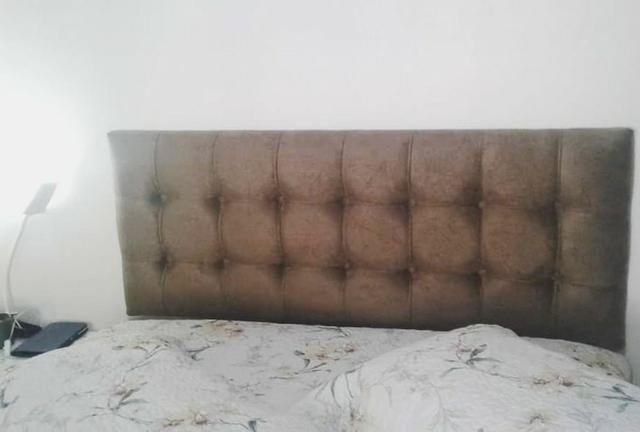 Cabeceira Painel Slim em Capitonê Europeu - Diversas Cores em Courino ou Suede - Foto 2