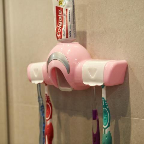 Dispenser para Creme Dental e Porta Escovas REF 2860 - Foto 4